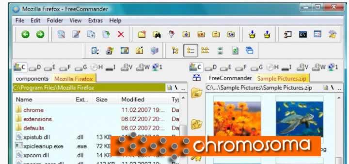 FreeCommander es una buena y fácil alternativa al normal administrador de archivo de Windows